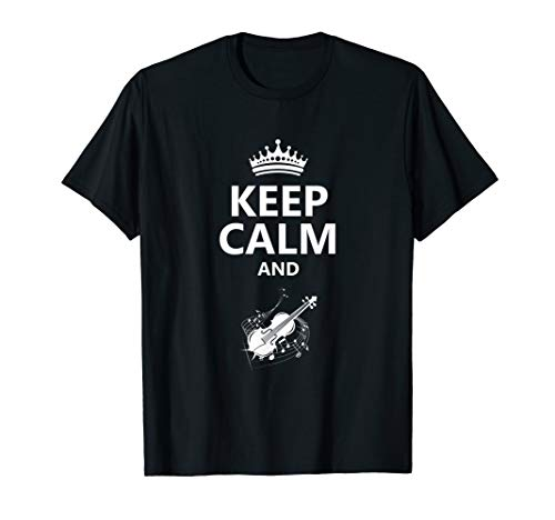 Keep Calm and Play Violin T-Shirt Violinist Crown]()
