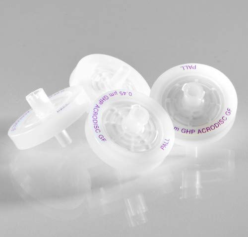 Pall 4566 Acrodisc Syringe Filters with GHP Membrane, 25 mm Diameter, 0.2 µm Pore Size, Pack of 1000, GH Polypro Membrane, Hydrophilic Polypropylene