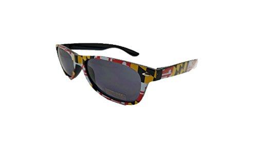 Maryland Flag Old Bay Adult Unisex Sunglasses (2 designs) (Maryland - Flag Sunglasses Maryland