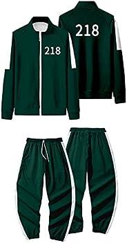 Korean Squid Game Hoodie And Sweatpants Suit Fashion Casual Sweatshirts Suit Zipper Hoodies Tracksuit For Man