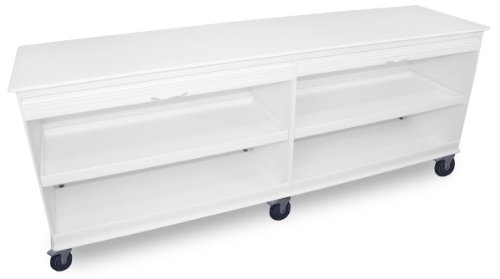 TrippNT 50734 White Large MRI Polyethylene Mobile Lab Cabinet Cart, Lockable: 94 x 37 x 24 inches WHD ()