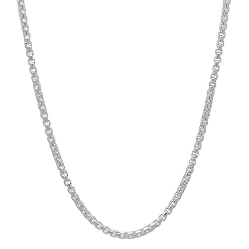 Solid Sterling Silver Round Necklace