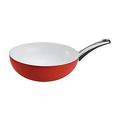Berndes SignoCast 11.5-Inch Nonstick Wok in Pearl/Red