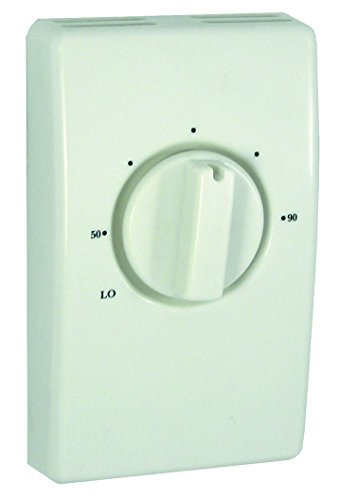 TPI S2022H10AB Series 2000 Line Voltage Thermostat, Single Pole with Lead, Ivory, 22 Amps ()