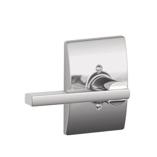 (Latitude Lever with Century Trim Non-Turning Lock, Bright Chrome (F170 LAT 625 CEN) )