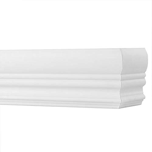 """TailorView, Faux Wood Crown Valance for Horizontal (Venetian) Window Blinds, Snow White, Inside or Outside Mount, 24 1/8"""" L - 36"""" L"""
