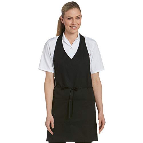 Chefwear Server Apron for Men & Women, 2-Pocket, For Casual Cafe or Fine Dining Setting, Black
