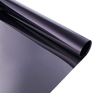 bofeifs Window Tint for Home Solar Film Heat Control Window Film Office Privacy Glass Window Sticker Smooth Glass 23.6x78.7Inch,Black