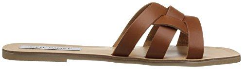 M Women's Leather Cognac 10 Sandal Steve Us Sicily Madden x6wSnqXP50