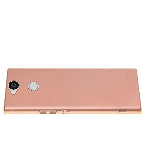 SMTR Sony Xperia XA2 Funda, Calidad Premium Cubierta Delgado Caso de PC Hard Gel Funda Protective Case Cover para Sony Xperia XA2 -Oro rosa Oro