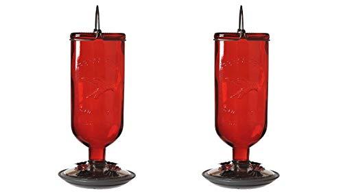 Perky-Pet 8109-2 Antique Glass Bottle Hummingbird Feeder-16-