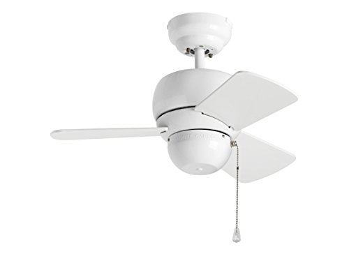 Monte Carlo 3TF24WH Micro 24 Outdoor Ceiling Fan, White