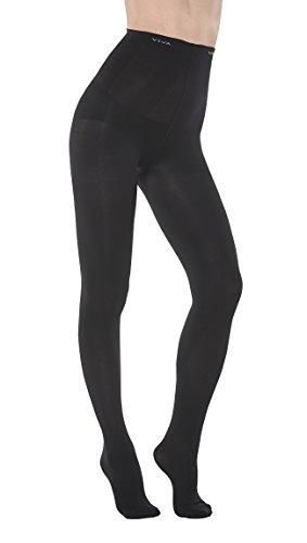 VivaLeg Secret Fit High-Waisted Tights Stockings (Black, M)