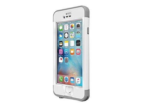 Lifeproof NÜÜD SERIES iPhone 6s ONLY Waterproof Case – Retail Packaging – AVALANCHE (BRIGHT WHITE/COOL GREY)