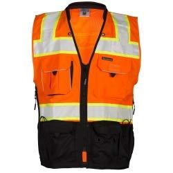 ML Kishigo - Premium Black Series Surveyors Vest - Orange Size: ()