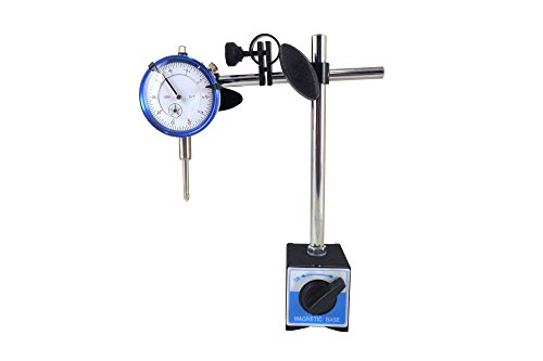"Magnetic Base with Fine Adjustment and SAE Dial Test Indicator with 0.0005: Resolution (half a thousandth), 1"" Travel, Accuracy 0.001"" per 1"" Mag Base MBDI"