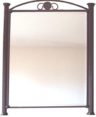 Roman Beveled Wrought Iron Mirror