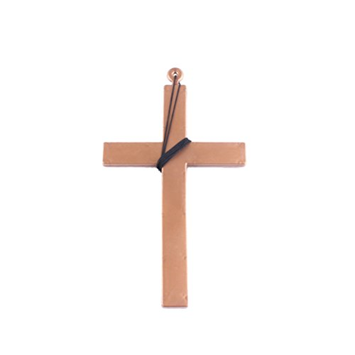 Tinksky Exorcist Priest Monk Plastic Cross Crucifix Fancy Dress Necklace for Christmas (Black String)