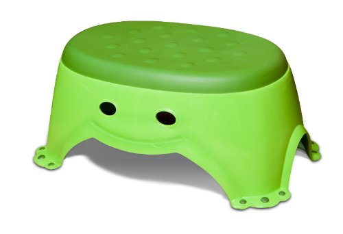 Mommy's Helper Step Up Non-Slip Stepstool Froggie Collection, Green