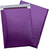 Glamour Bubble Mailers, Purple, 13 x 17 1/2'', 100 / Case