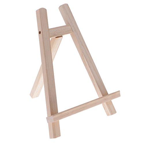 Perfk 2サイズ選ぶ 画材 木製 ミニアーティスト ディスプレイスタンド 絵画 イーゼル 写真 三脚イーゼル 学校、美術学生 便利ツール - 27x20x4cm