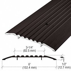 6'' Bronze Commercial Saddle Threshold - 36-1/2'' Length