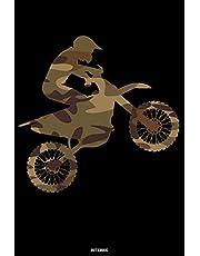 Notebook: Camouflage Motocross Journal Dirt Bike Composition Book Motorcycle Biker logbook Birthday gift