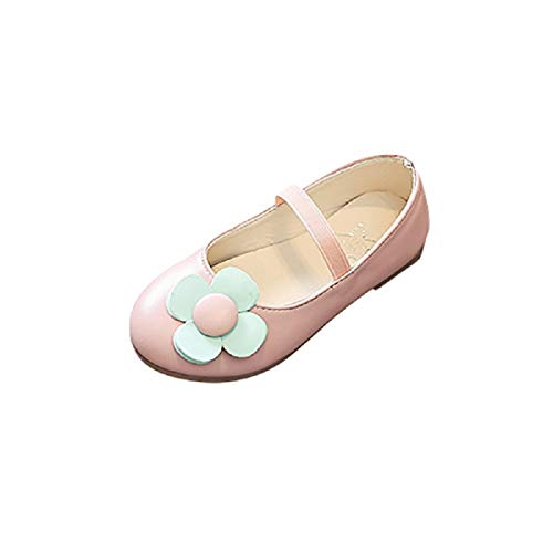 (Infant Mary Jane FAPIZI Children Kids Girls Flower Leather Princess Outdoor Dance Flats Casual Shoes Pink)