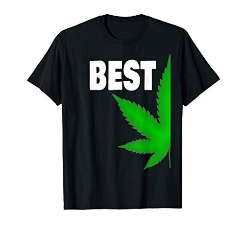 Couple Matching Best Buds BFF T-shirt Marijuana Leaf Weed