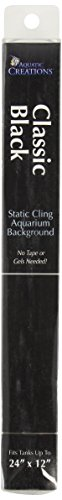 (SPORN Aquarium Background, Static Cling, Classic Black,  24