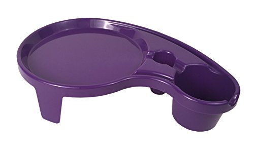 Pals - One Handed Drink Holder, Napkin, Cutlery & Food Serving Tray with Hidden Handle - Plum Purple- Breakfast Table for 1 ()