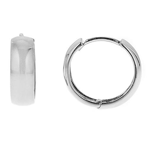 Sterling Silver Huggies Earrings 14 5mm