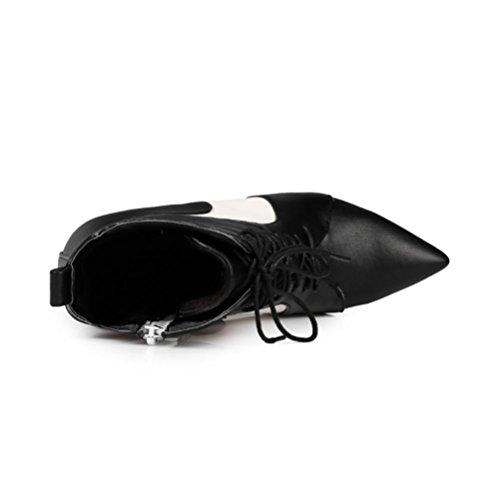 und frauen schuhe absätzen stiefel hohen Frauen heel mit color 2017 black winter Multi serie reißverschluss spitze herbst heels spitze QPYC neue serie Martin high axw7p7Hq
