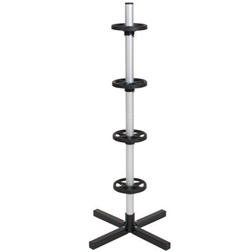 TecTake Alu Felgenbaum bis 225 mm Reifenbreite mit felgenschonender Auflagefläche