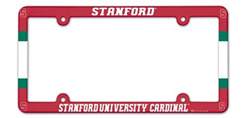 WinCraft Stanford University Cardinal Full Color Plastic License Plate Frame Cardinals Ncaa Logo Tailgate