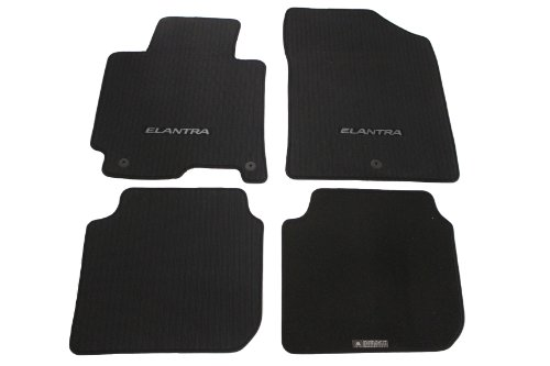 HYUNDAI Genuine Accessories 3XF14-AC200-RY Black Carpeted Floor Mat, (Set of 4)