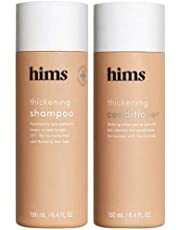 Hims Thickening Shampoo 6.4 Fl Oz and Conditioner 6.4 Fl Oz Set. DHT Targeting and Moisturizing. Adds Volume + Moisture. Formulated Saw Palmetto + Niacinamide. Vegan, Paraben, Sulfate, Cruelty