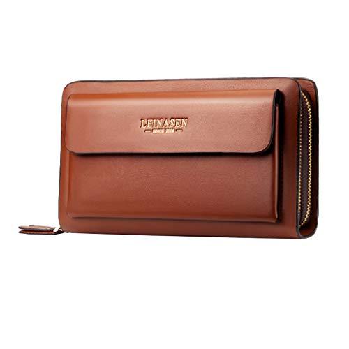 Men's Wallet,PAQOZ Fashion Business Multi-function Card Holder Waterproof Wallet Double Zipper Bag