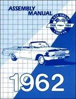 1962 chevrolet assembly manual impala biscayne bel air chevy 62 rh amazon com