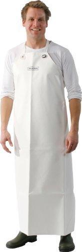 schwere Fleischerschürze weiße Gummischürze 125 x 95 cm aus PVC - 540 gr /m² (Typ # 94) Oceanrainwear
