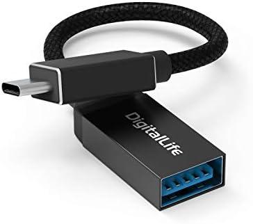 DigitalLife Adaptador USB-C Tipo-C a USB OTG [USB 3.1, Trenzado de ...