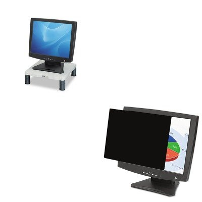 KITFEL4801201FEL91712 - Value Kit - Fellowes Blackout Privacy Filter for 20.1amp;quot; Notebook/LCD (FEL4801201) and Fellowes Height-Adjust Standard Monitor Riser (FEL91712)