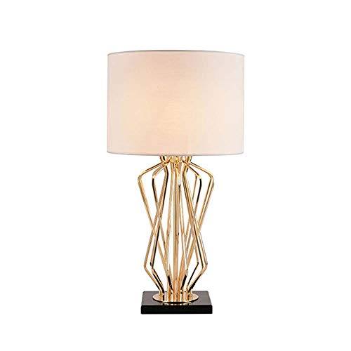 Table lamp American Minimalist Design Retro Industrial Wrought Iron, Fabric Lampshade LED Lamp 110V-220V Bedroom Bedside Lamp (Color : C)