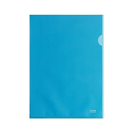 Esselte Buste aL Copy Safe De Luxe, Trasparente, Formato A4, Porta documenti, Foglio in PP antiriflesso, Confezione da 100 buste, Rosso, 395483300