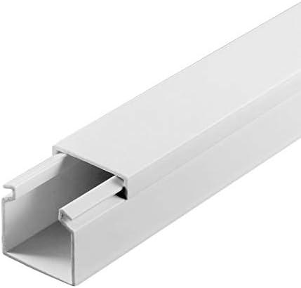 wei/ß L x B x H 2000 x 25 x 25 mm, PVC, Kabelleiste, Schraubbar SCOS Smartcosat SCOSKK38 10 m Kabelkanal