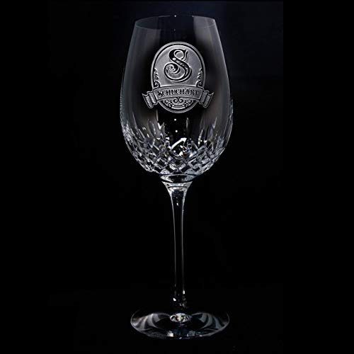 Waterford Crystal Lismore Essence Red Wine Goblet Glass Engraved, M8