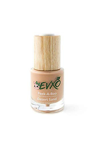 EVXO Organic Liquid Mineral Foundation - Vegan, All Natural, Gluten Free, Aloe Based, Buildable Coverage, Cruelty Free Foundation Makeup - 1 Fl Oz (Desert Sand)