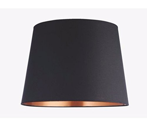 Onepre Tapered Large Lampshade Black And Copper Color Lamp