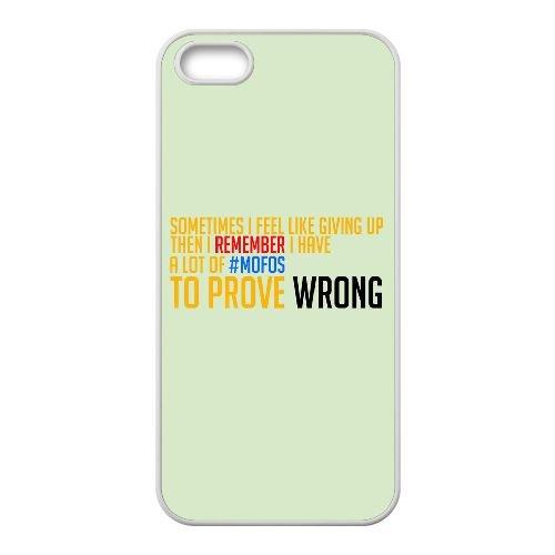 J4V68 parfois je me sens comme abandonner T3P7BP coque iPhone 5 5s cellulaire cas de téléphone couvercle coque blanche RX3GEJ9IB