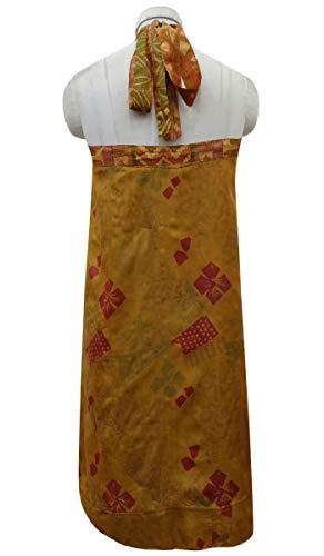 Light Beige Brown Vintage Femmes Wrap amp; Les Indianbeautifulart Pure Dress Rouge Beach Réversible Summer Soie Saree Check Imprimer qFS6Txwag
